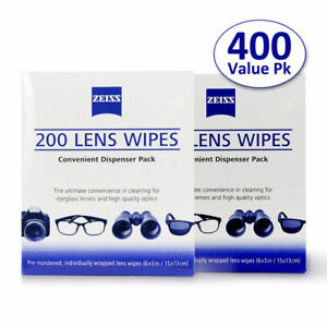 Details about ZEISS Lens Cleaning 400 Wipes Eye Glasses Computer Phone  Optical Lenses Cleaner