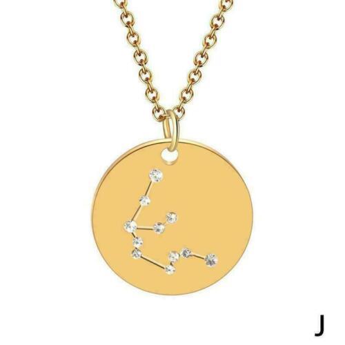 Zwölf Sternbilder Goldkette Sternbild Zirkonia Halskette Edelstahl Nett R2H P4E0