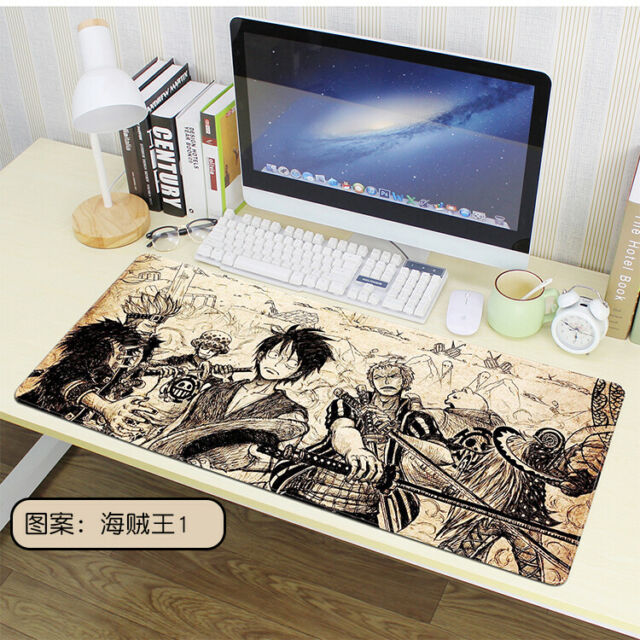 Color : F, Size : 5mm HMMSP Non-Slip Extended Keyboard Mat Large Gaming Mouse Pad Rubber Base Fit The Desktop Not Easy to Slide Durable Locking Edges 80/×30cm Multi-Color Optional