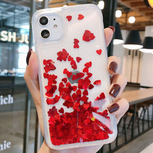 For-iPhone-11-Pro-X-XS-Max-XR-6-7-8-Plus-Case-Liquid-Glitter-Clear-TPU-Cover
