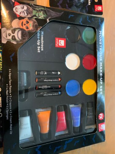 15 items BRAND NEW Smiffys Halloween Make Up Deluxe Bundle For Kids
