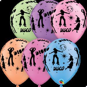 25 Neon Disco Balloons 70s 80s 90s Birthday Party Helium Air Qualatex 21575 Ebay