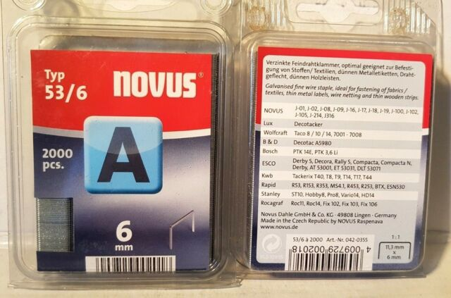 Novus Feindrahtklammer Typ A 53//10-1000 Stück