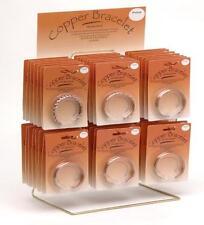 36 BULK LOT PURE COPPER MAGNETIC BRACELET w DISPLAY RACK jewelry health magnets