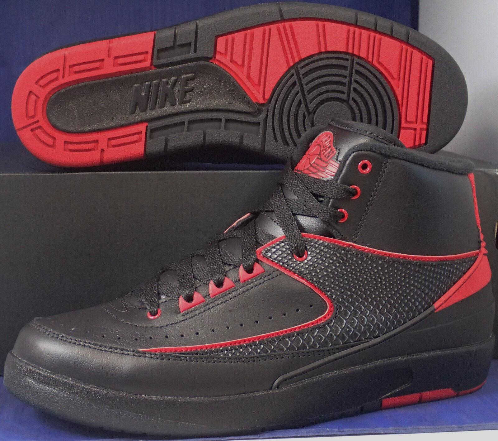 Nike Air Jordan 87 2 I Retro Alternativa 87 Jordan Negro Rojo Universitario Talle 811.5 (834274001) 5b5276
