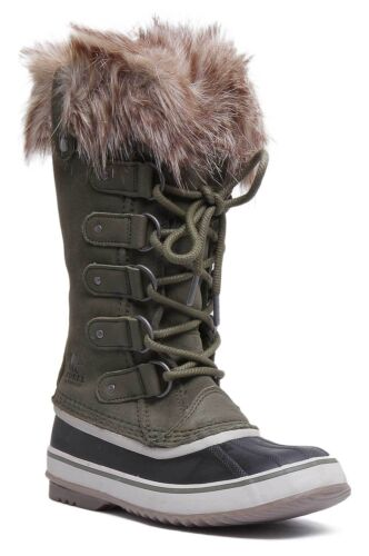 Sorel Joan Of Arctic Womens Suede Long Snow Boots In Forestgreen Size UK 3-8