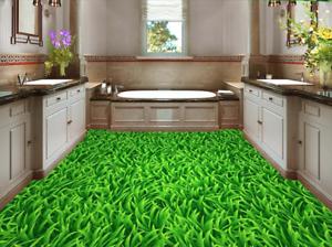 Césped verde 3D Piso impresión de parojo de papel pintado mural 54 5D AJ Wallpaper Reino Unido Limón