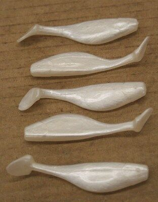 """3/"""" Shad Paddle Tail Swimbait great for Umbrella Rig 50 count bag Sassy Pearl"""
