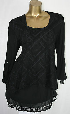 46 48 Edel Batik Zweiteiler Kleid Minikleid Shirt Tunika Top Bluse 8 Farben Bequem Zu Kochen