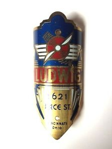 LUDWIG BICYCLE BADGE NOS 1920's