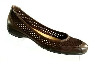 Naturalizer-Womens-Flats-Loafer-Shoes-Size-7-M-Brown-Leather-Slip-On-New