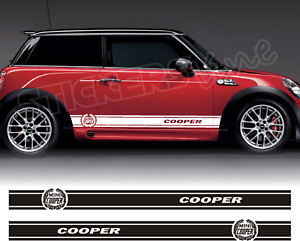 Fasce-adesive-Mini-Cooper-strisce-fiancate-adesivi-laterali-LOGO-stripes-bonnet