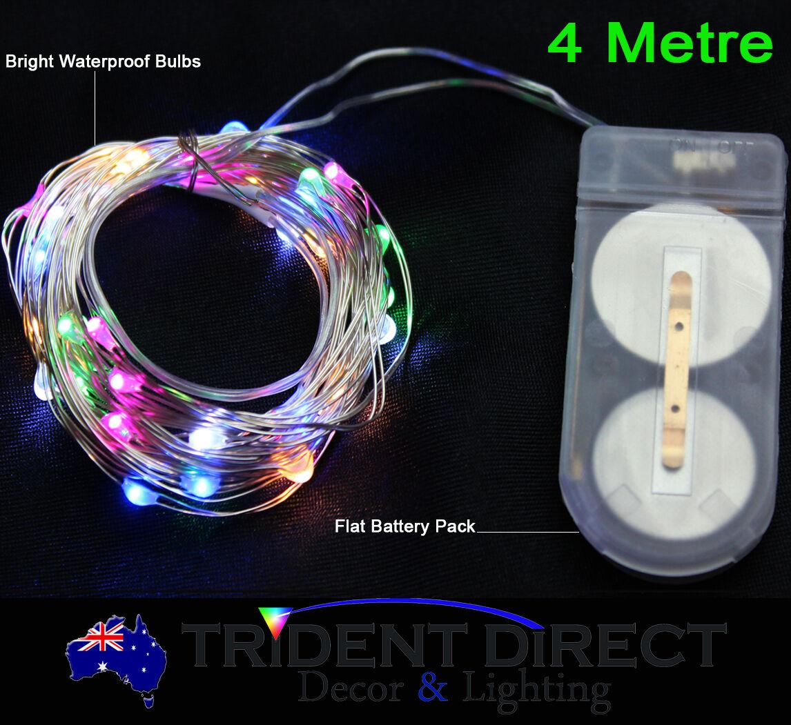 Led Micro Seed Vine Lights 4m Waterproof Battery Operated Ebay