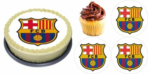 FCB Barcelona Fußball Geburtstag eßbar Tortenaufleger Tortenbild Party Deko neu