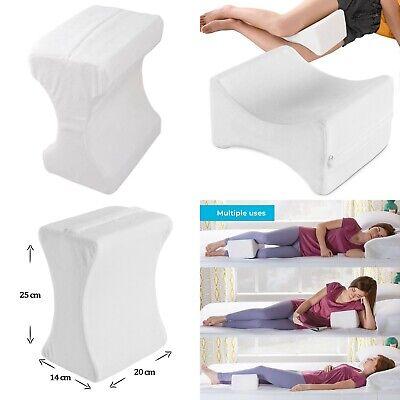 2 X Memory Foam Cuscino Contour Gamba Letto Ortopedico Ferma Supporto Per Ginocchio Fianchi Posteriori-