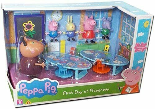 Peppa Pig Peppa S First Day At Playgroup Playset With 5 Action Figures Toy Set 5029736072902 Ebay