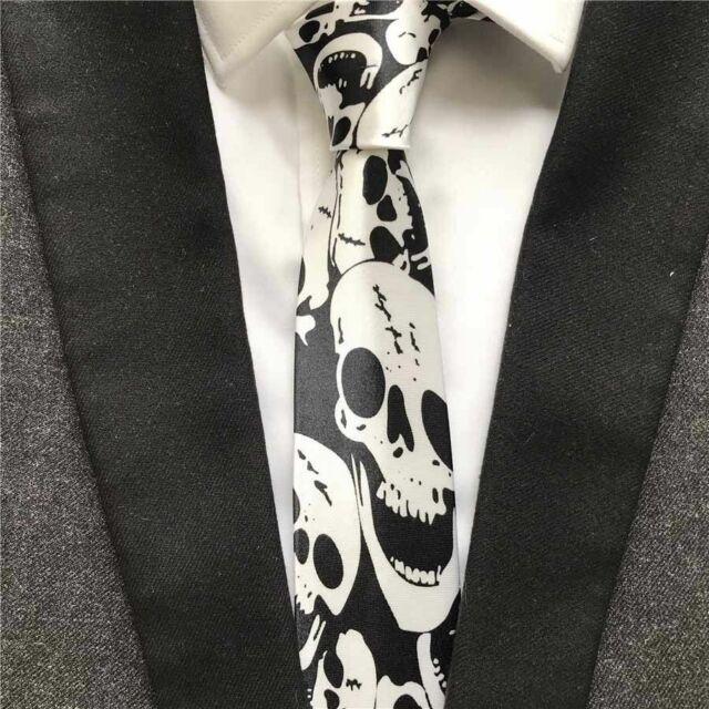 Men Women Halloween Fancy Scare Snake Skull Skeleton Tie Necktie Costume PROP