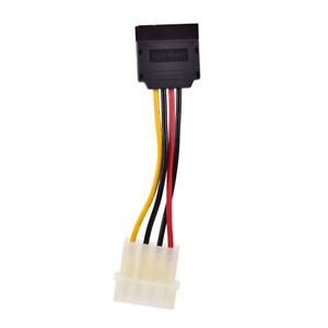 Molex-to-SATA-Power-Adaptor-Cable-4-pin-to-15-pin-For-HDD-Hard-Drive-FLA