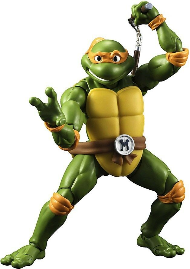 contador genuino Teenage Mutant Mutant Mutant Ninja Turtles Figura de acción S.H. Figuarts Miguel Ángel  salida