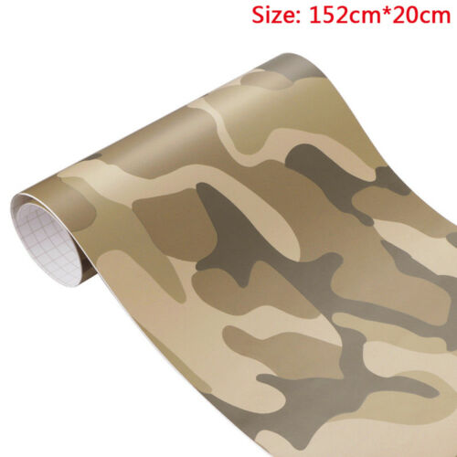 Camouflage Adhesive PVC Vinyl Film Car Wrap Army Digital Sticker 152*20cm 2018
