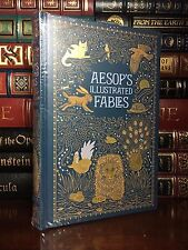 Aesop's Illustrated Fables Brand New Sealed Leather Bound Deluxe Collectible Ed.