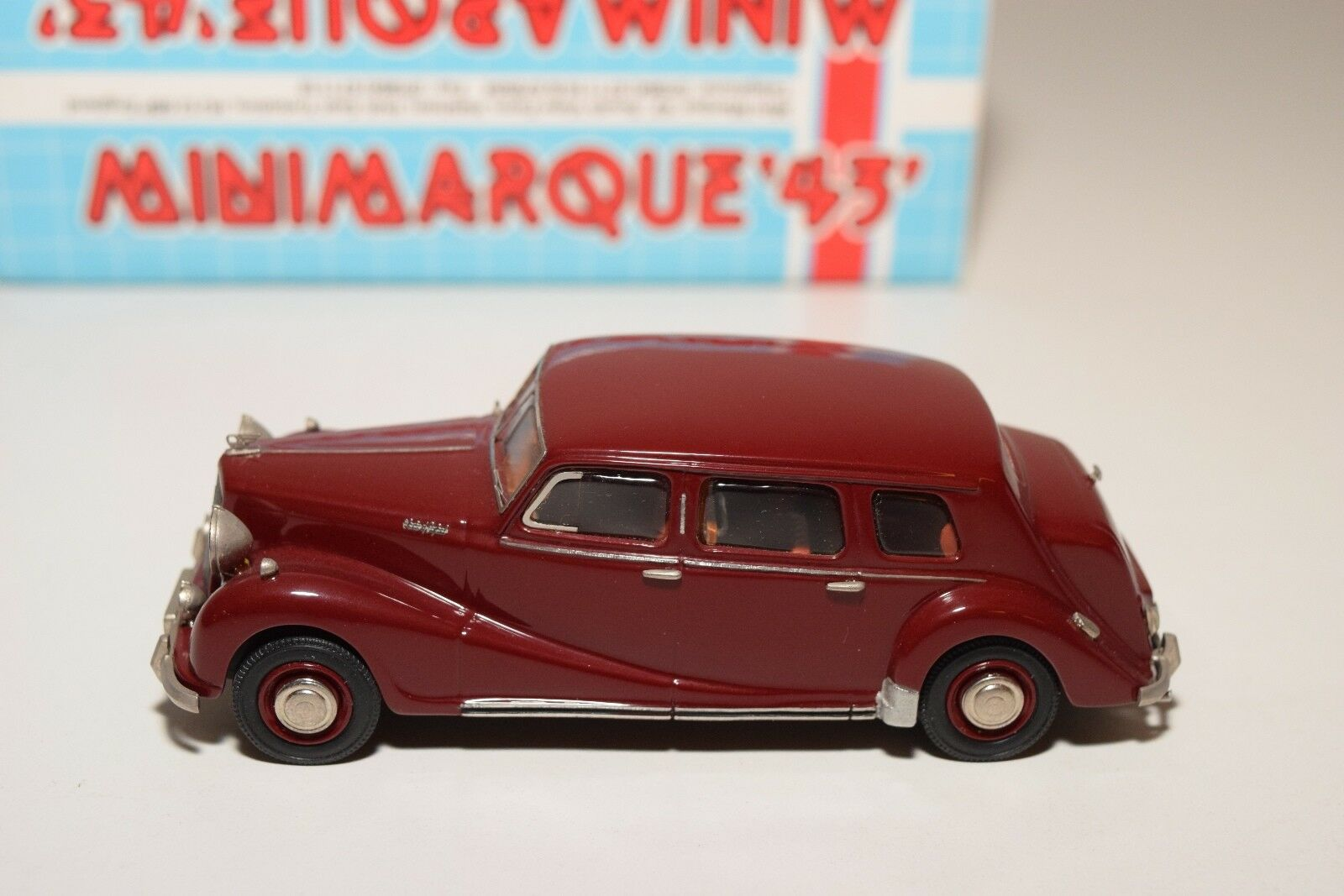 MINIMARQUE '43 '43 '43 AUSTIN A125 SHEERLINE LIMOUSINE MAROON MINT BOXED 739bcd