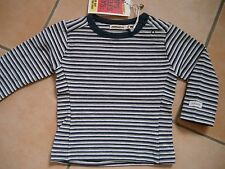 (17) Imps & Elfs UNISEX BABY maglietta a strisce + Bottoni & logo ricamate gr.62