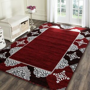 Area-rug-Nwprt-85-Modern-red-soft-pile-size-2x3-4x5-5x7-8x11