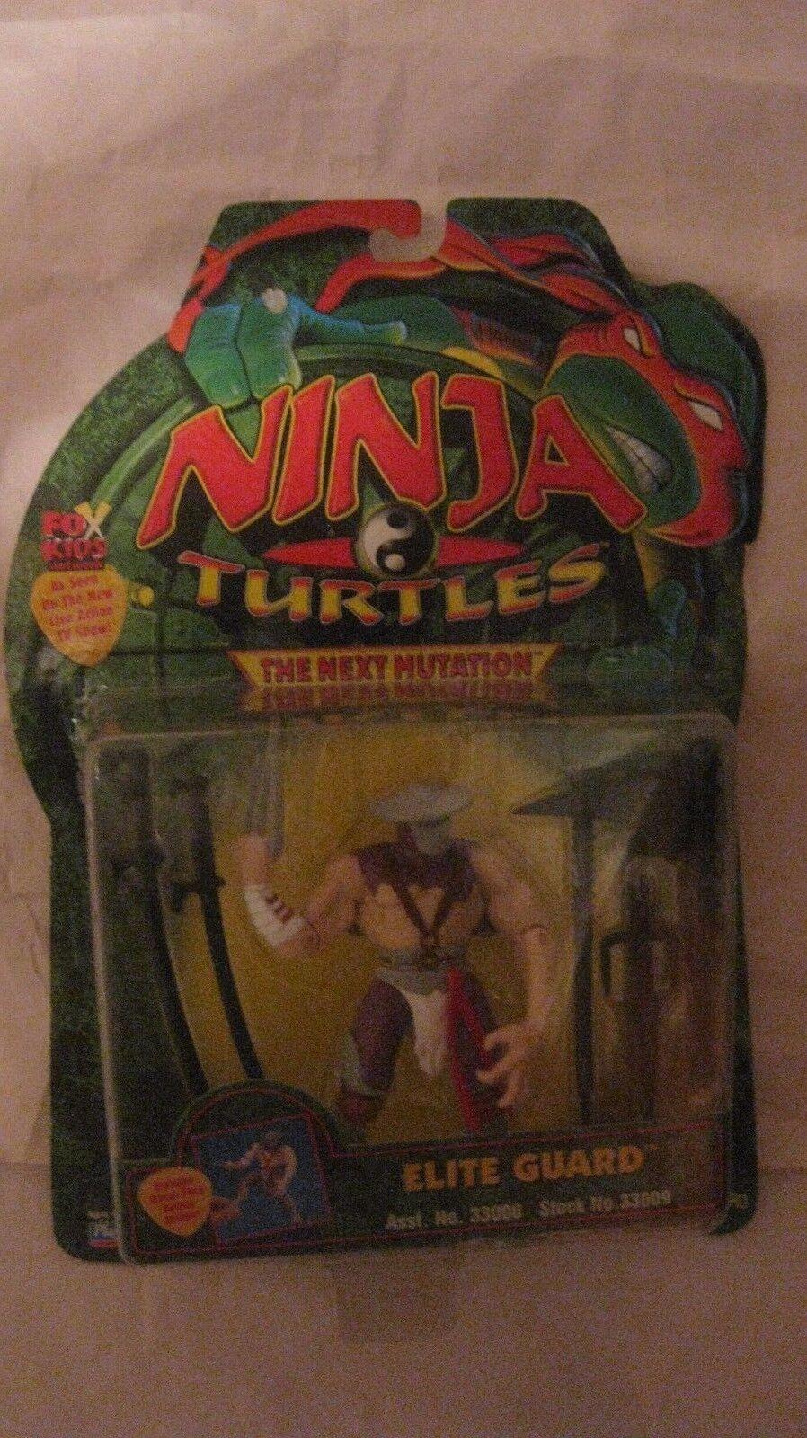 Ninja Turtles nästa Mutation Elite Guard med vapen från spelamates 1997 t90