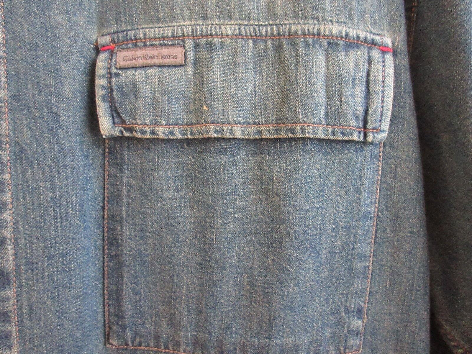 Calvin Klein Jeans , Size XL/XG , Men's Long Sleeve Shi