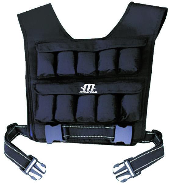 Megaform Peso Gilet 10kg Training Gilet Fitness Tapis Gilet allenamento della forza NUOVO