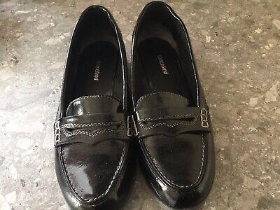ladies black flat shoes size 5 used | eBay