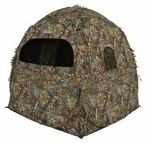 Ameristep Realtree Edge Camo 2-Person Hunting / Shooting Doghouse Tent Blind