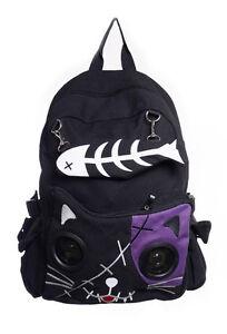 Purple abbigliamento Kitty Emo per vietato gattino nero con Zaino Cat qT6PIwn