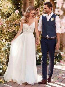 Rebbeca-Ingram-039-Juniper-039-boho-beach-Wedding-Dress-Size-14-Good-for-a-size-12