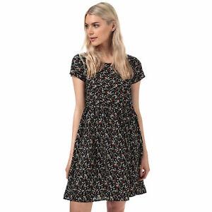 Para-Mujer-Vestido-Bluson-Brave-Soul-Ditsy-Floral-en-Negro