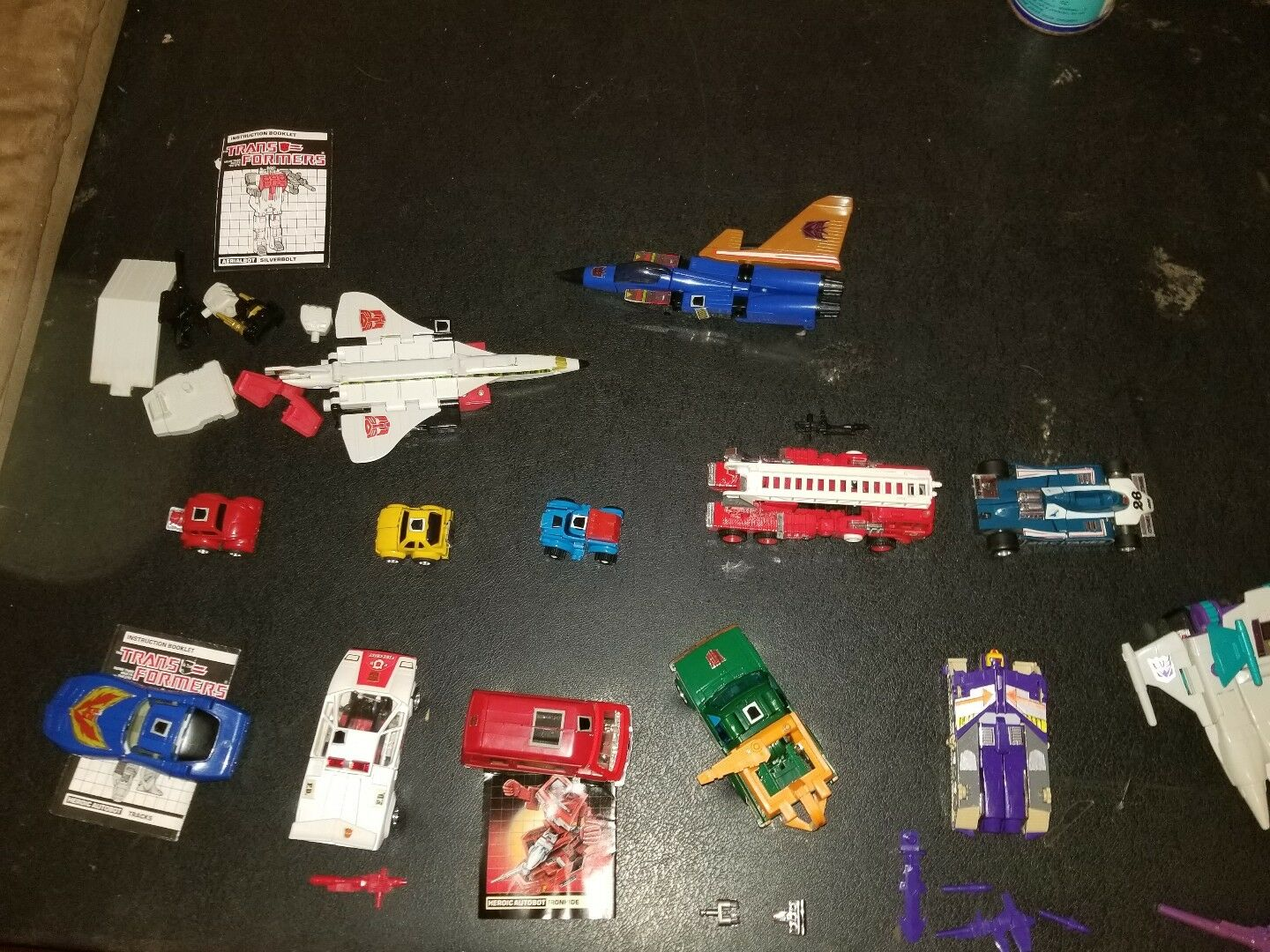 Lot of 13 G1 Transformers Headmaster Blitzwing, Hoist. Ironhide