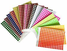 Sticker Labels Inch Marking Dots 8mm Color Coded Round Craft Circles 2688 Pack