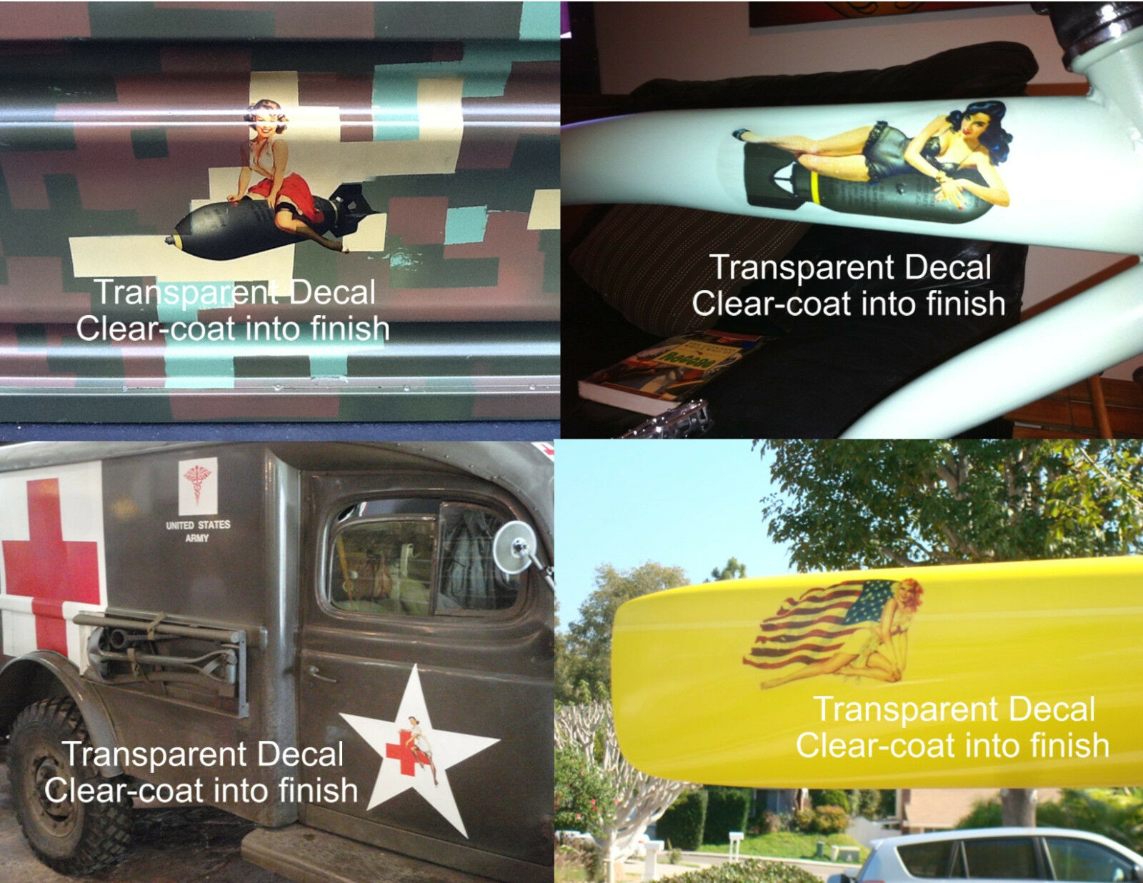 Nose Art Racing Bike Cycling Pinup Girl Decal Tribute to Mark Cavendish #272