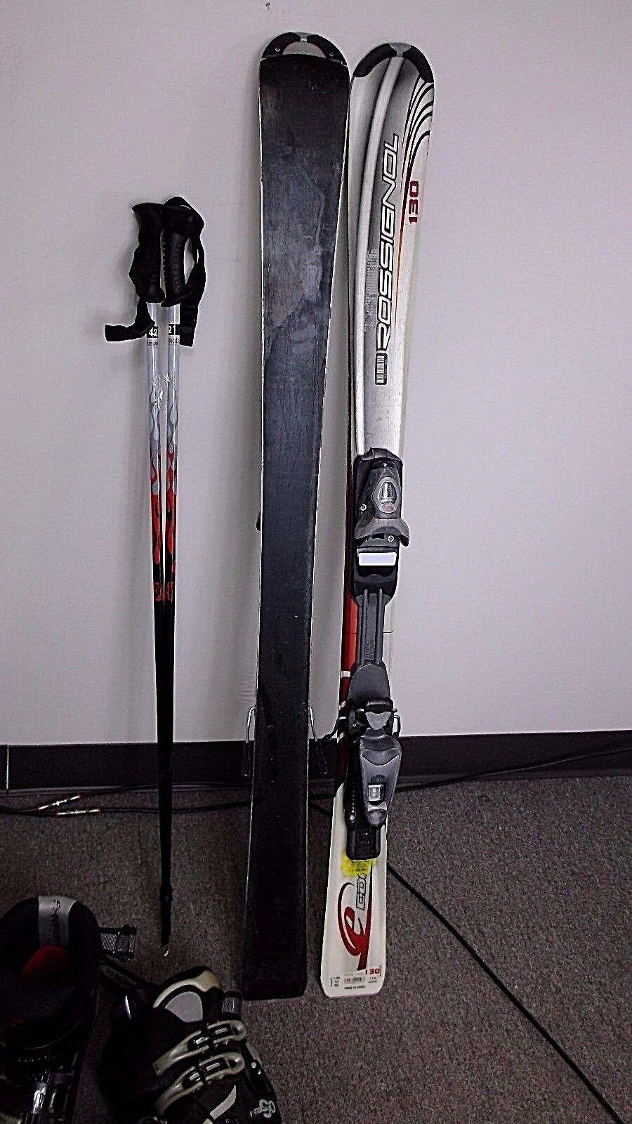 Ski Package, USED Rossignol Edge Cut SKIS, Adj.Salomon Bindings,  botas  & Poles  precioso