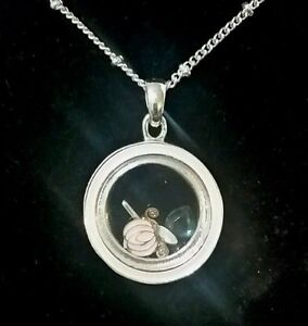 Disney parks silver cinderella round necklace charms encased glass image is loading disney parks silver cinderella round necklace charms encased aloadofball Gallery
