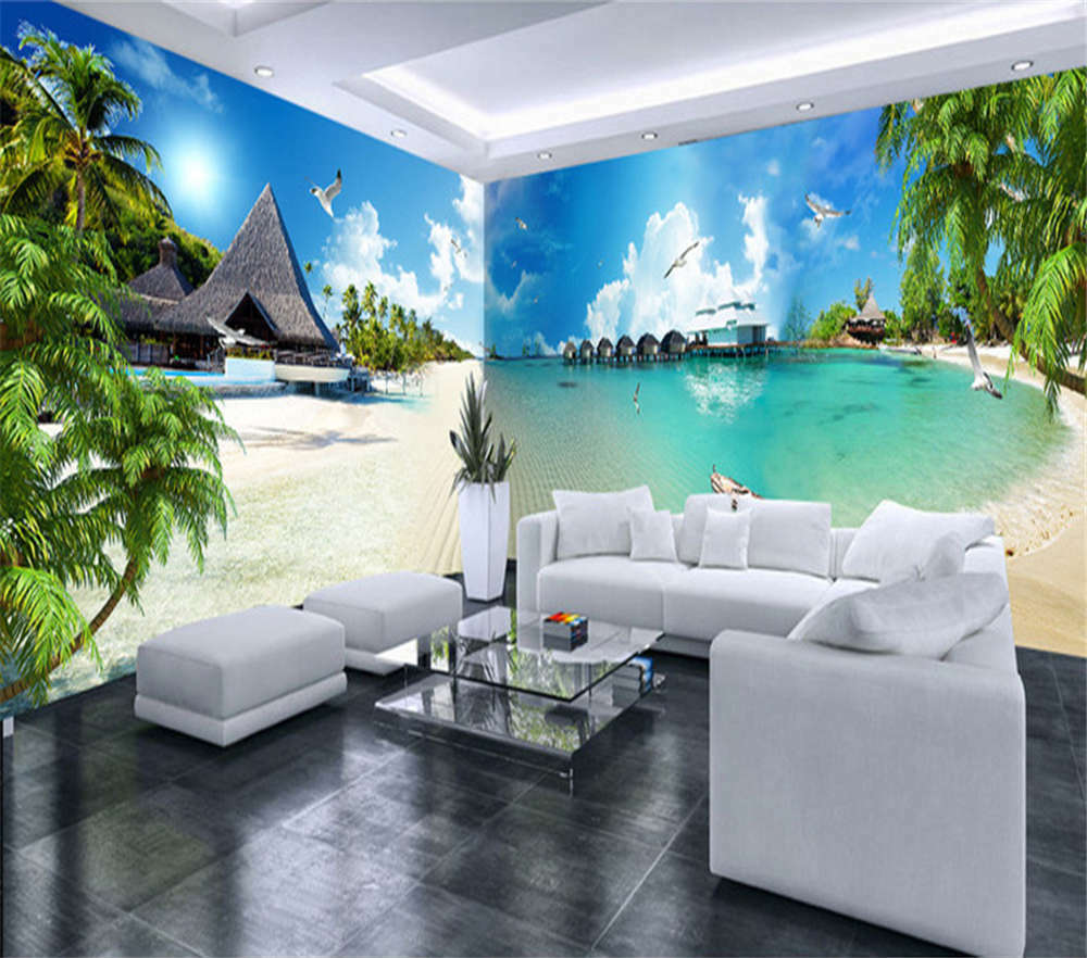 Sharp Wooden House 3D Full Wall Mural Photo Wallpaper Printing Home Kids Decor