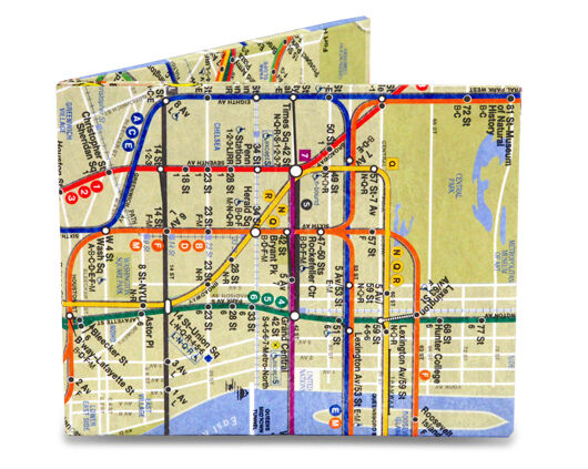 Nyc Subway Map Paper.Dynomighty Mighty Wallet Bifold Tyvek Paper Durable Thin Nyc Subway Map