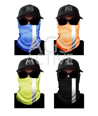 Fishing FACE MASK Sun Shield Neck Gaiter Headband Bandana Du Rag Skull Cap SPF40