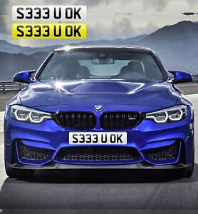 SEE-YOU-OK-S333-U-OK-PRIVATE-NUMBER-PLATE-FUNNY-RUDE-FAST-SLOW-LOSER-AMG-M3-M4