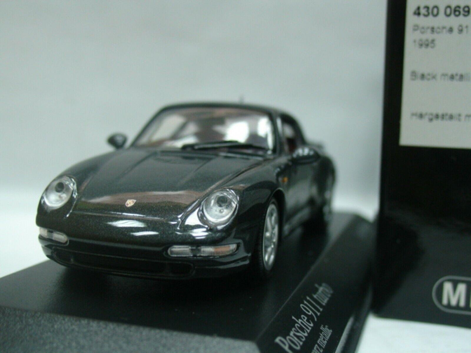 WOW estremamente RARA PORSCHE 993 911 Turbo 3.6L 1995 Nero 1:43 Minichamps-GT2/RSR