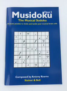 Musidoku-Opus-2-The-Musical-Sudoku-44-music-puzzle-book-paperback-by-Kearns