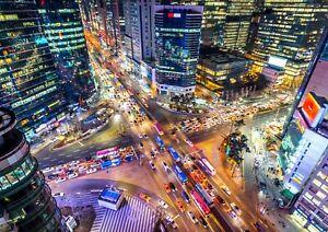 Gangnam-Seoul-City-Poster-Print-Size-A4-A3-Urban-Landscape-Poster-Gift-12367