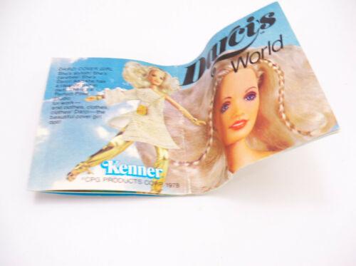 Vintage 1979 Kenner World of Darci Darci/'s World Catalog Booklet