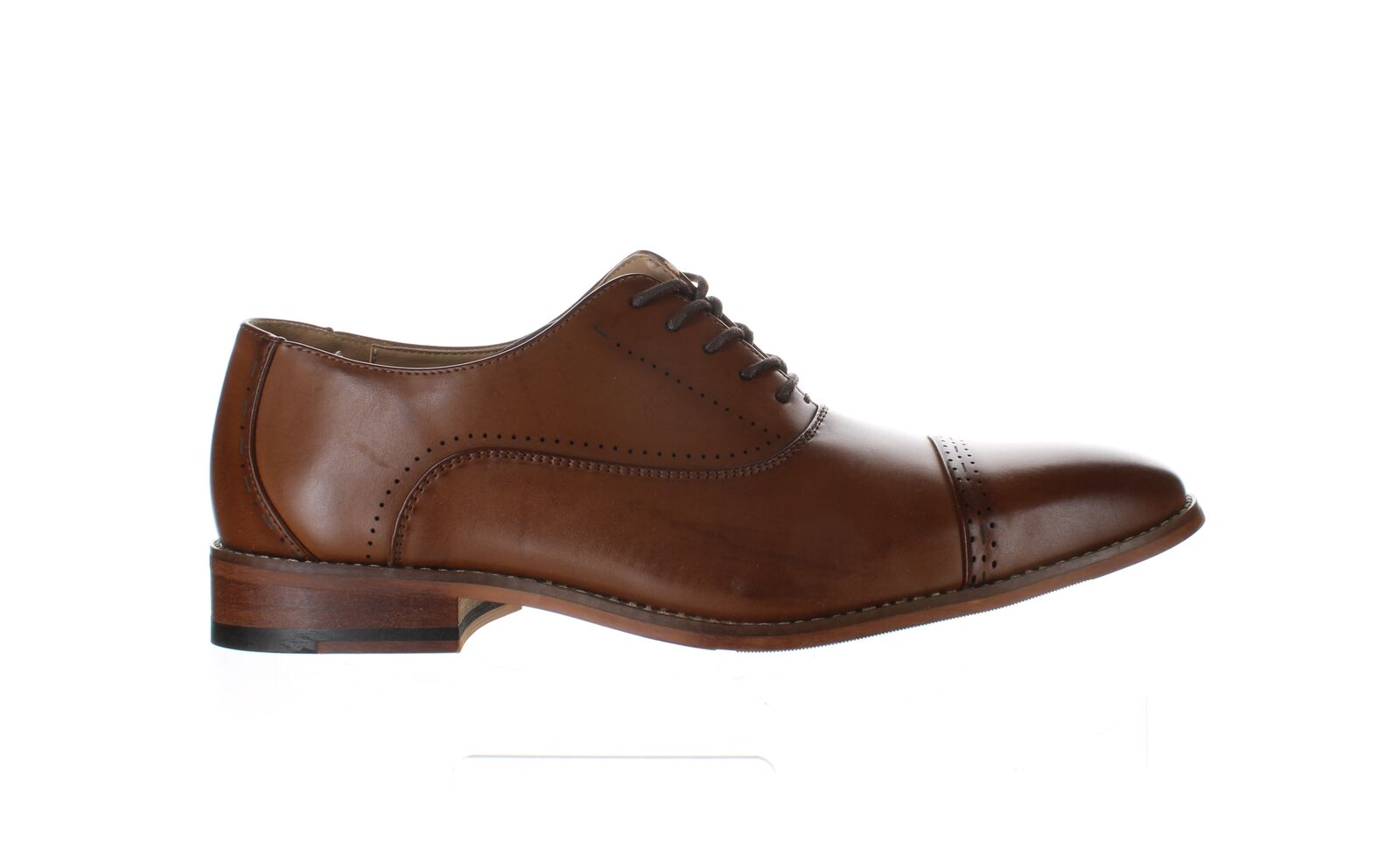 Unlisted by Kenneth Cole Mens Cheer Lace-Up Cognac Oxford Dress Shoe Size 9.5